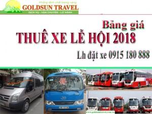 Thuế xe Lễ 2018